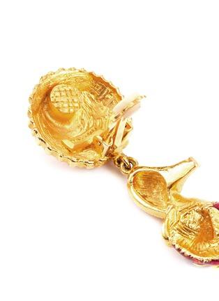 Detail View - Click To Enlarge - STAZIA LOREN - Diamanté pump drop clip earrings
