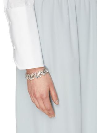 Figure View - Click To Enlarge - STAZIA LOREN - Diamanté geometric bracelet