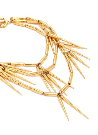 Detail View - Click To Enlarge - STAZIA LOREN - Spike fringe choker