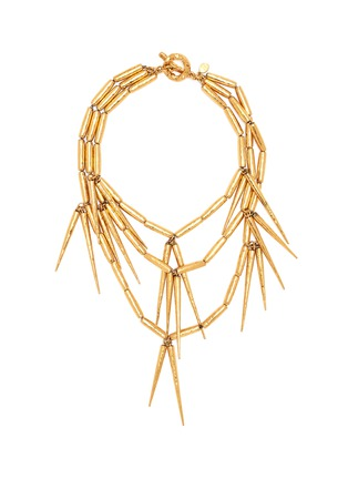 Main View - Click To Enlarge - STAZIA LOREN - Spike fringe choker