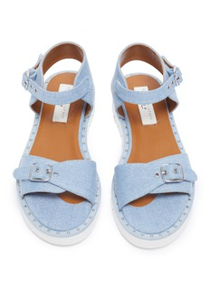 Stella McCartney Kids Stud buckle denim kids sandals