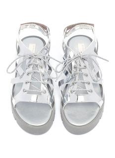 Stella Mccartney Kids Star cutout lace up kids sandals