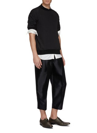Figure View - Click To Enlarge - Haider Ackermann - Pleated wool-silk twill pants