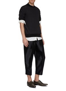 Haider Ackermann Pleated wool-silk twill pants