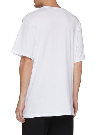 Back View - Click To Enlarge - Haider Ackermann - Slogan thorn print T-shirt