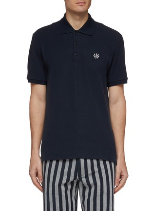 Main View - Click To Enlarge - RAG & BONE - Dagger logo embroidered polo shirt