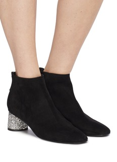 Pedder Red 'Gale' embellished heel suede ankle boots