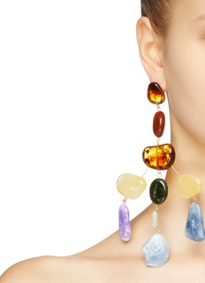 Cult Gaia ''Sloane' tered acrylic stone earrings
