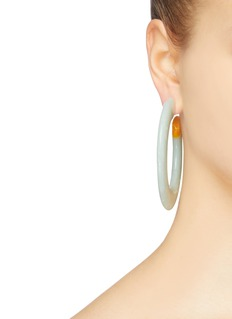 Cult Gaia 'Kennedy' marble effect hoop earrings