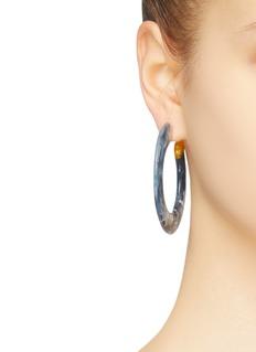 Cult Gaia 'Mira' marble effect hoop earrings