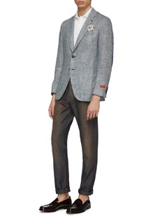 ISAIA Cotton-linen straight leg jeans