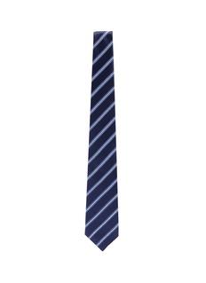 ISAIA Stripe silk-cotton tie