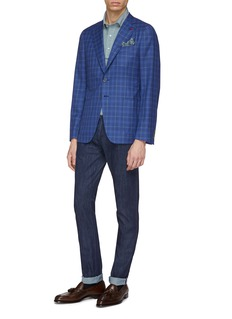 ISAIA 'Cortina' tartan plaid wool blazer