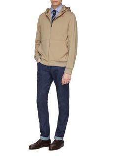 ISAIA Nylon zip hoodie