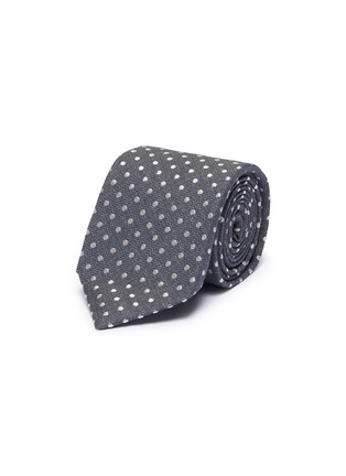 Main View - Click To Enlarge - ISAIA - Polka dot embroidered cotton-silk tie