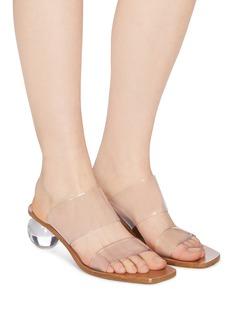 Cult Gaia 'Jila' Perspex heel PVC strap sandals
