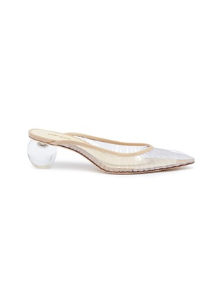 Main View - Click To Enlarge - CULT GAIA - 'Alia' orb heel cutout PVC mules