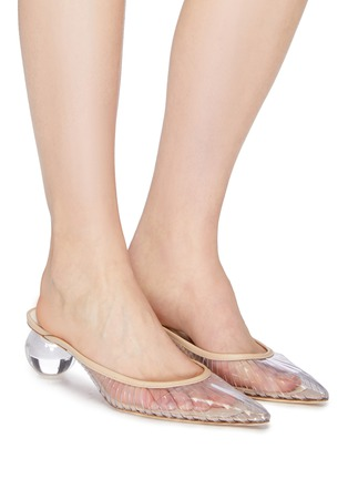 Figure View - Click To Enlarge - CULT GAIA - 'Alia' orb heel cutout PVC mules
