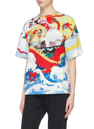 Front View - Click To Enlarge - ANGEL CHEN - Dragon Junk graphic print unisex T-shirt