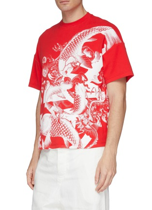 Detail View - Click To Enlarge - ANGEL CHEN - Koi fish graphic print unisex T-shirt