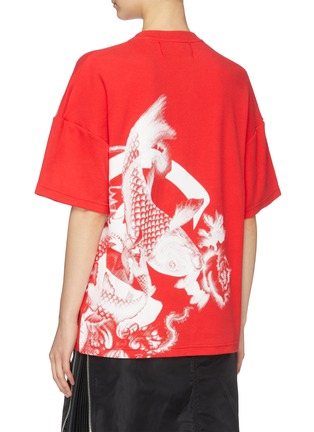 Back View - Click To Enlarge - ANGEL CHEN - Koi fish graphic print unisex T-shirt