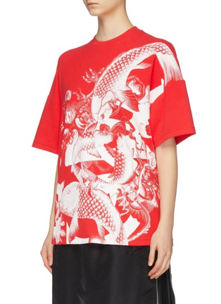 Front View - Click To Enlarge - ANGEL CHEN - Koi fish graphic print unisex T-shirt
