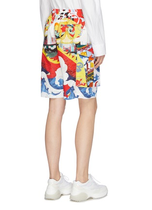 Back View - Click To Enlarge - ANGEL CHEN - Graphic print unisex cargo shorts