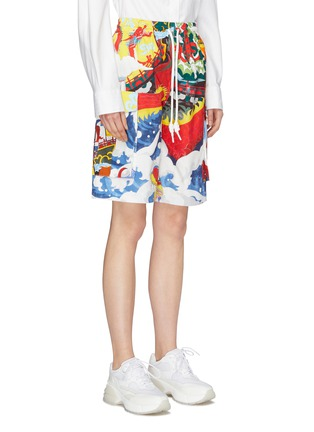 Front View - Click To Enlarge - ANGEL CHEN - Graphic print unisex cargo shorts