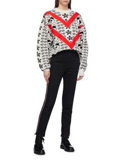 Nervure Chevron stripe graphic jacquard sweater