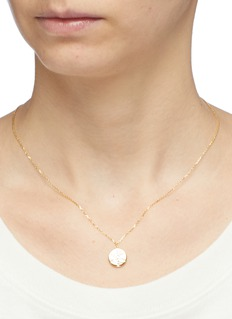HEFANG 'First Snow' cubic zirconia silver pendant necklace