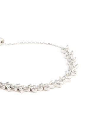 Detail View - Click To Enlarge - HEFANG - 'Snowfall' cubic zirconia silver bracelet