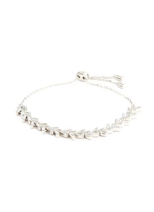 Main View - Click To Enlarge - HEFANG - 'Snowfall' cubic zirconia silver bracelet