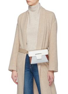 Yuzefi 'Lola' colourblock leather bum bag
