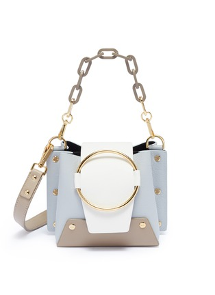 Main View - Click To Enlarge - Yuzefi - 'Mini Delila' oversized ring leather bucket bag