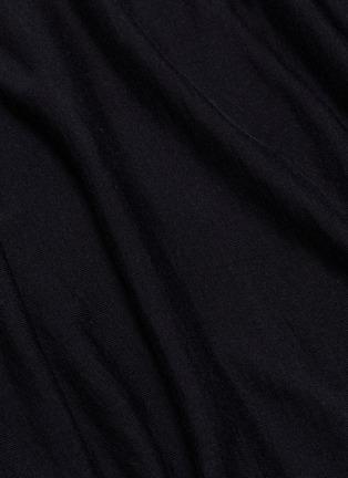 - Rick Owens - Drape cashmere poncho sweater