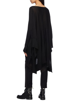 Back View - Click To Enlarge - Rick Owens - Drape cashmere poncho sweater