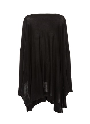 Main View - Click To Enlarge - Rick Owens - Drape cashmere poncho sweater