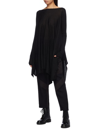 Figure View - Click To Enlarge - Rick Owens - Drape cashmere poncho sweater