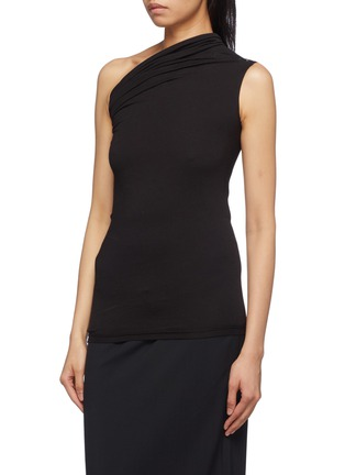 Front View - Click To Enlarge - Rick Owens - Drape one-shoulder T-shirt