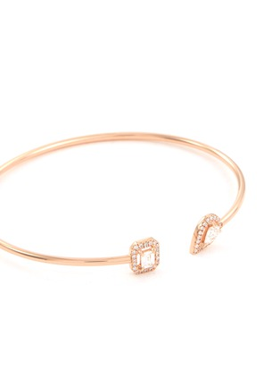 Detail View - Click To Enlarge - MESSIKA - 'My Twin Skinny' diamond 18k rose gold cuff