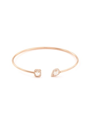Main View - Click To Enlarge - Messika - 'My Twin Skinny' diamond 18k rose gold cuff