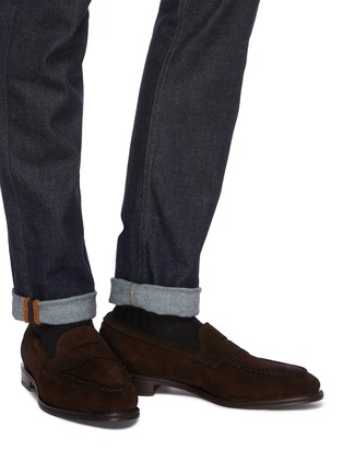 d2203ff2b1d Figure View - Click To Enlarge - Allen Edmonds -  Mercer Street  suede penny