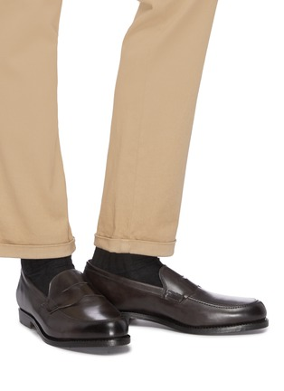 Figure View - Click To Enlarge - ALLEN EDMONDS - 'Wooster Street' leather penny loafers