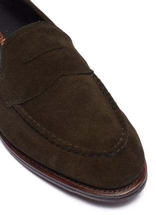 Detail View - Click To Enlarge - ALLEN EDMONDS - 'Mercer Street' suede penny loafers