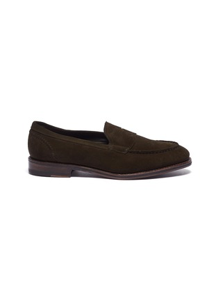 Main View - Click To Enlarge - ALLEN EDMONDS - 'Mercer Street' suede penny loafers