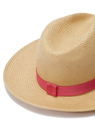 Detail View - Click To Enlarge - Yestadt - 'Nomad' packable straw fedora hat