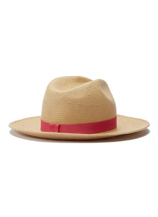 Figure View - Click To Enlarge - Yestadt - 'Nomad' packable straw fedora hat