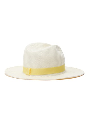3c4fa0e2fea995 Figure View - Click To Enlarge - Yestadt - 'Nomad' packable straw fedora hat