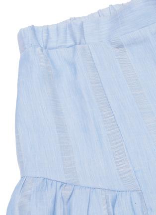 - LEMLEM - 'Bekele' flared ruffle cuff cotton-linen shorts