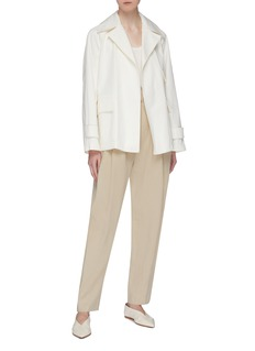 Theory Belted short utility trench coat